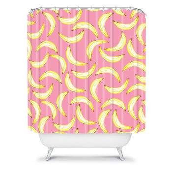 DENY Designs Home Accessories | Lisa Argyropoulos Gone Bananas In Pink Shower Curtain