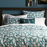 Organic Diamond Texture Duvet Cover + Shams
