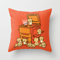 The Original Copycat Throw Pillow by Budi Satria Kwan