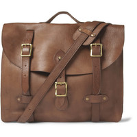 J.Crew Montague Distressed-Leather Satchel | MR PORTER