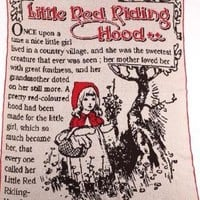 Little Red Riding Hood Large Throw- Made from Pre-Consumer Products - Whimsical & Unique Gift Ideas for the Coolest Gift Givers