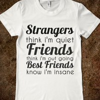 Supermarket: Strangers Friends Best Friends T-Shirt from Glamfoxx Shirts