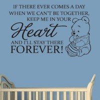 "Winnie The Pooh-Comes A Time-Wall Sticker-Home Decor-Wall Decal-Wall Art-25"" inches-Inspirational Quotes-Famous Sayings-Nursery Decal-Wall Quote:Amazon:Everything Else"