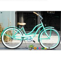 "J Bikes Chloe, Mint Green - Women's 26"" 1-speed Beach Cruiser Bicycle:Amazon:Sports & Outdoors"