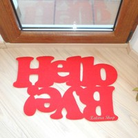 Supermarket: Doormat hello / bye! from Xatara