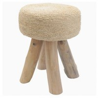 Crocheted Raffia Stool - ?89.95 : le souk, unique living