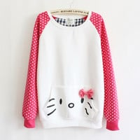 LADIES CUTE HELLO KITTY SWEATER