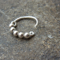 Silver balls septum ring