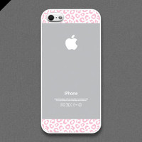 iPhone 5 case - light grayish and light pink Leopard Pattern cases,iPhone Case, iPhone Case, iPhone 5 Case, Cases for iPhone5, IPHONE 5