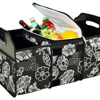 One Kings Lane - Open-Air Afternoons - Trunk Organizer & Cooler, Night Bloom