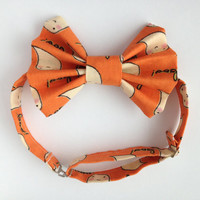 Adjustable Bow Tie; Orange Halloween Bow Tie; Kids and Adults