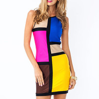 Work-Of-Art-Colorblock-Dress BLUEMULTI - GoJane.com