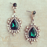 Pree Brulee - Mughal Empress Emerald Earrings