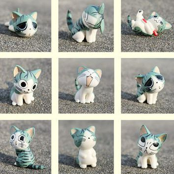 Cartoon Chi's Sweet Home Cute Cat Figures Animal 9 PCs