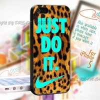 Leopard Just Do It - Print On Hard Case iPhone 5 Case