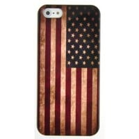 EarlyBirdSavings Retro Flag Of The United States of America Hard Case Cover for iPhone5 iPhone 5:Amazon:Cell Phones & Accessories