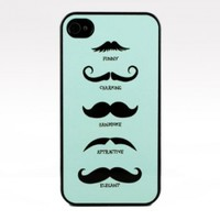 Mustache Snap On Case Cover for Apple iPhone 4 iPhone 4s