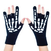 Metal Hand Fingerless Gloves