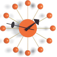george nelson ball clock - orange