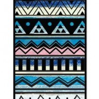 iZERCASE Pastel Aztec Pattern Rubber iphone 4, iphone 4S case - Fits iphone 4/4S T-Mobile, Verizon, AT&T, Sprint and International