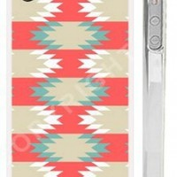Coral, Blue and Mint Aztec iPhone 4 Case - Geometric Tribal iPhone 4 4s Cover