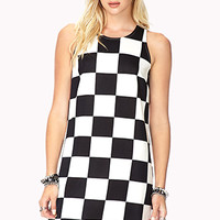 Mod Checkered Shift Dress