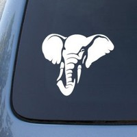 Elephant Head - Car, Truck, Notebook, Vinyl Decal Sticker #2573 | Vinyl Color: White:Amazon:Everything Else