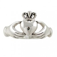 Irish Friendship & Love Band Celtic Claddagh Ring in Sterling Silver, Sizes 5, 6, 7, 8, and 9, #2601:Amazon:Jewelry