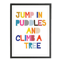 Jump In Puddles   Art Print