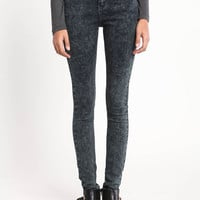 MIDNIGHT ACID WASH HIGH WAIST SKINNY JEANS