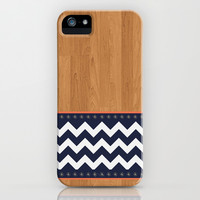 Wood and Chevron pattern iPhone & iPod Case by deccase