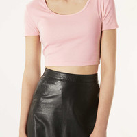 Basic Crop Tee - Tops - Clothing - Topshop USA