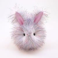 Sparkle the Bunny Rabbit Fluffy Plush Stuffed Animal Toy - 6x10 Inches Large Size