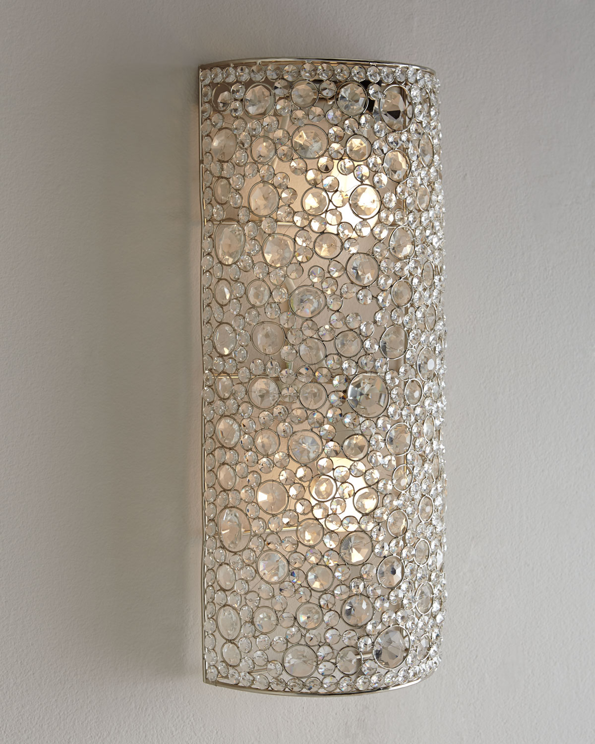 four hands scattered crystal sconce from horchow things