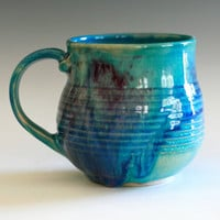 DISCOUNTED - Porcelain Coffee Mug, handmade ceramic cup, coffee cup