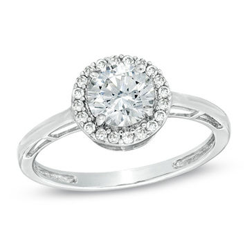 6 0mm lab created white sapphire ring in from zales