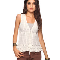Crochet Sweater Vest | FOREVER21 - 2011408852