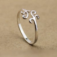 Fashion COOL Simple Silver Cloud Ring