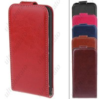 Fashion PU Leather Protective Wallet Case Cover Shell Guard Credit Card Holder for iPhone 5 5S from UltraBarato Gadgets
