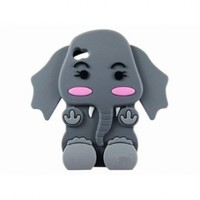 SODIAL(TM) Cute 3D Cartoon Elephant Silicone Case Cover Skin for iPhone 4 4S Gray:Amazon:Cell Phones & Accessories