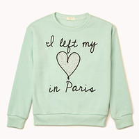 Left My Heart In Paris Sweatshirt (Kids) | FOREVER 21 - 2002246017