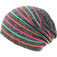 Empyre Girls Juliet Multi Stripe Pink, Coral, & Mint Beanie at Zumiez : PDP