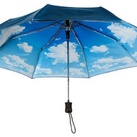 One Kings Lane - Stormy Weather - Auto Open-Close Umbrella, Nimbus
