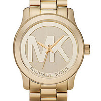 Michael Kors Watch, Women's Runway Gold Plated Stainless Steel Bracelet 45mm MK5473 - Women's Watches - Jewelry & Watches - Macy's