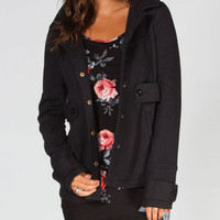 Others Follow Womens Peacoat Black  In Sizes