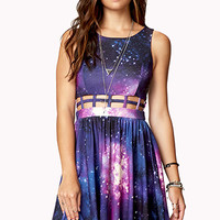 Fit & Flare Cosmic Cage Dress | FOREVER 21 - 2000050771