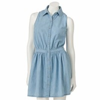 SO® Denim Shirt Dress - Juniors