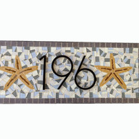 Mosaic Address Sign with Starfish