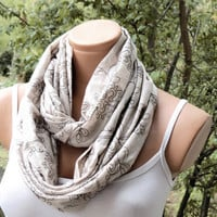 Boho Infinity Scarf, hand-embroidered floral pattern scarfs, Loop Scarf Bohemian Women's Fashion Accessories, Wholesale Scarf, 2014 trend