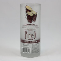 Tumbler Recycled from Three Olives Root Beer Bottle